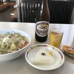 長崎ちゃんぽん・皿うどんの店 ながやん - ビールを入れて1200円のランチ、文句なしです(2017.9.29)