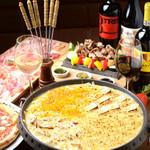 Ponte名物クリーミィー焼きチーズフォンデュ クアトロフォルマッジョ