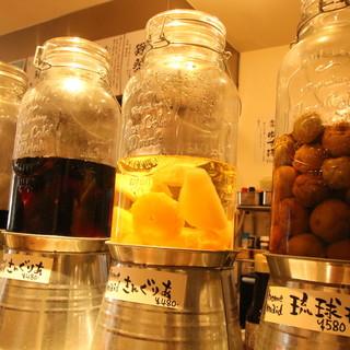 【自家製の琉球梅酒が人気】