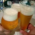 73907377 - 生ビールで乾杯~、自分はドライバーなのでノンアルです