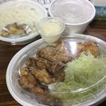 鶏彩 - からあげ弁当(上) 690円税別