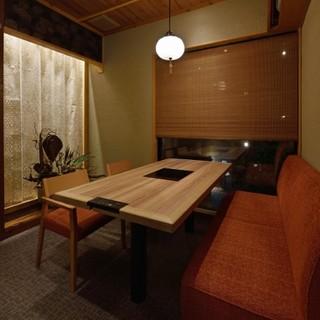 趣を凝らした和モダンな『完全個室』で、心地良い時の流れを。