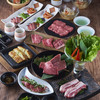 焼肉居酒家 韓の台所 - 料理写真:いろいろ満足コース 3,800円+税/お一人様