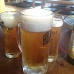 jingiskan 盆賊衆 - ノンアルコールビールと生ビール