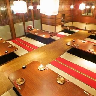 雰囲気抜群。落ち着いた空間でゆったりお食事・ご宴会を