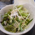 熔岩焼肉 牛火 - ランチのサラダ