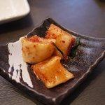 熔岩焼肉 牛火 - ランチのキムチ