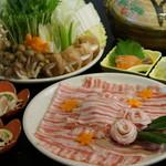 バームクーヘン豚のすき焼きorしゃぶしゃぶ「松」コース