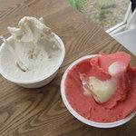 ナチューラ - バナナと苺のシャーベット