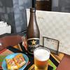 日本料理 紫水 - ドリンク写真:瓶ビール&おつまみ