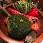 OTTO SETTE - 途中で見せてくれた野菜
