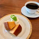 丸福珈琲店 - バウムクーヘンセット 900円