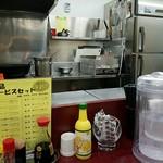 レストラン ポパイ - 奥の温め機にデミソース