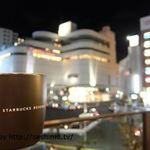 スターバックスコーヒー トリエ京王調布店 - テラス席から北口ロータリーを眺める