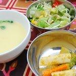 オーティッカ - 料理写真:スープ、サラダ