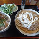 73940819 - 肉汁うどん(800円)+春菊天(100円)_2017-09-29