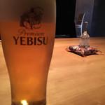 旧かつえ - 生ビール(エビス)