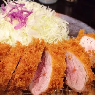 とんかつ瓢 - 料理写真:特選 棒ひれカツ定食 1950円