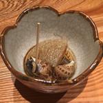 大阪うなぎ組 - バイ貝と大根のたいたん