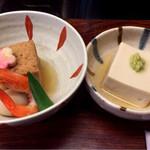 清水 順正 おかべ家 - 炊き合わせ&胡麻豆腐