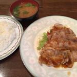 キッチン マカベ - 〈薄切りタイプ〉豚ロース生姜焼き ライス・味噌汁付