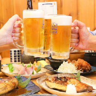 【生ビール1杯(グラス)150円!!】ジョッキでも220円♪