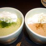 556CAFE - 抹茶プリン&ほうじ茶プリンセット399円