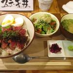 牛串 ちぇっく - ステーキ丼セット ¥1,200
