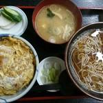 更科 - ミニカツ丼セット(かけ)