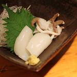 石臼挽き手打蕎楽亭 - 新イカの刺身
