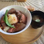 HIROSHIMA2016 RESTAURANT UNDER THE SKY - 黒毛和牛のローストビーフ丼