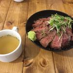 肉バル529 - 529特製 ランプステーキ丼 全景