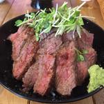 肉バル529 - 529特製 ランプステーキ丼アップ