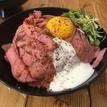 肉バル529 - ローストビーフ丼(並)アップ