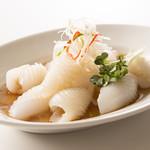 南翔饅頭店 - イカの湯引き 葱油風味