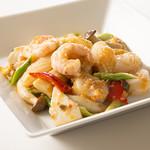 南翔饅頭店 - 三種海鮮のXO炒め