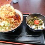 嵐山パーキングエリア(上り)スナックコーナー - かき揚げそばミニ高菜丼
