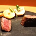baron - 神戸牛の三角、内腿ステーキ
