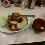 カレーショップ 酒井屋 - チキン野菜を玄米変更800えん。