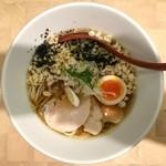 にぼしらーめん88 - 限定ラーメン(鶏と厚節の冷製ラーメン)