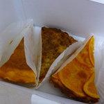 Patisserie cafe Gadette ni vu ni CONNU - タルト(オレンジ・砂糖)、ベイクドチーズケーキ