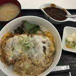 ティーダイニング - 「一口かつ丼」1,000円+「ちょいカレー」100円