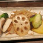 蘭麻 - 野菜も焼いて