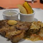 ロッヂ花月園 - 料理写真:ポークと帆立貝のソテー