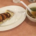 73981254 - 餃子とスープ