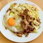 焼きそば さいとう - 料理写真:焼きそば さいとう@宇都宮 やきそば大盛・肉・玉子(650円+100円+50円)