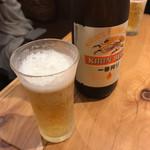 天吉屋 - ビールも飲んじゃいました。