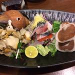 たけとんぼ - つぶ貝、イワシ、イカゴロルイベ