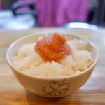 二代目 白神 - 明太子ご飯…150円
