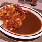 アルプス - 麻婆豆腐カレー(470円)+大盛(木曜サービス)